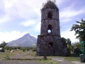 Cagsawa Ruins Near Mayon Volcano